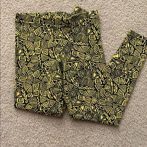 Forever 21 yellow leggings